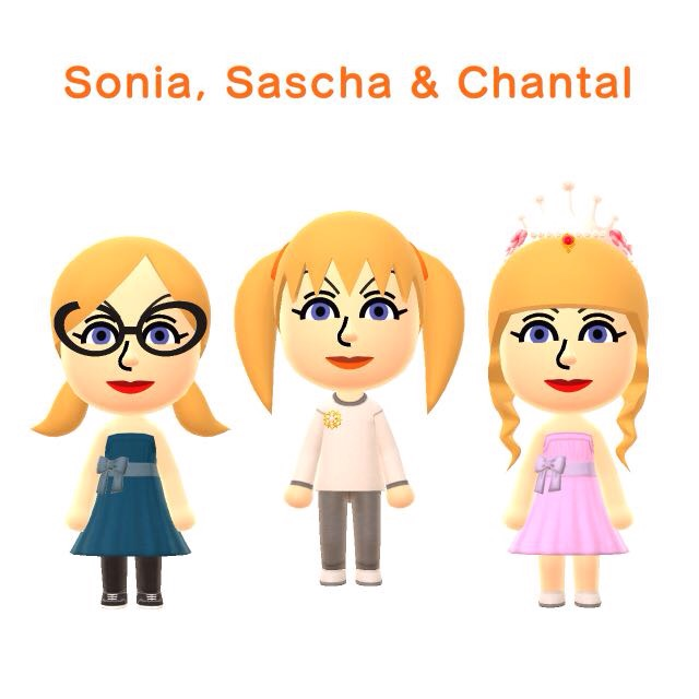 Sonia, Sascha en Chantal