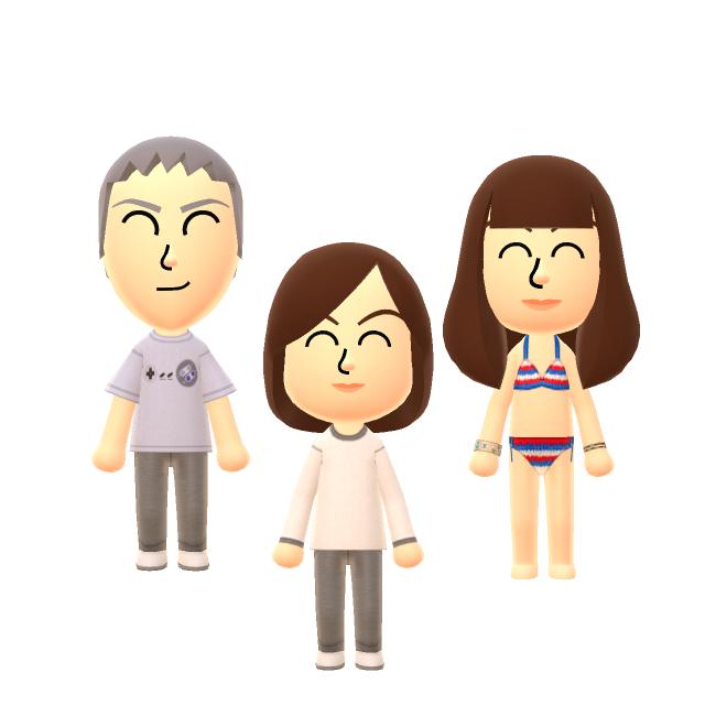 Akiko, Hitomi en de mannelijke Wii Fit-trainer