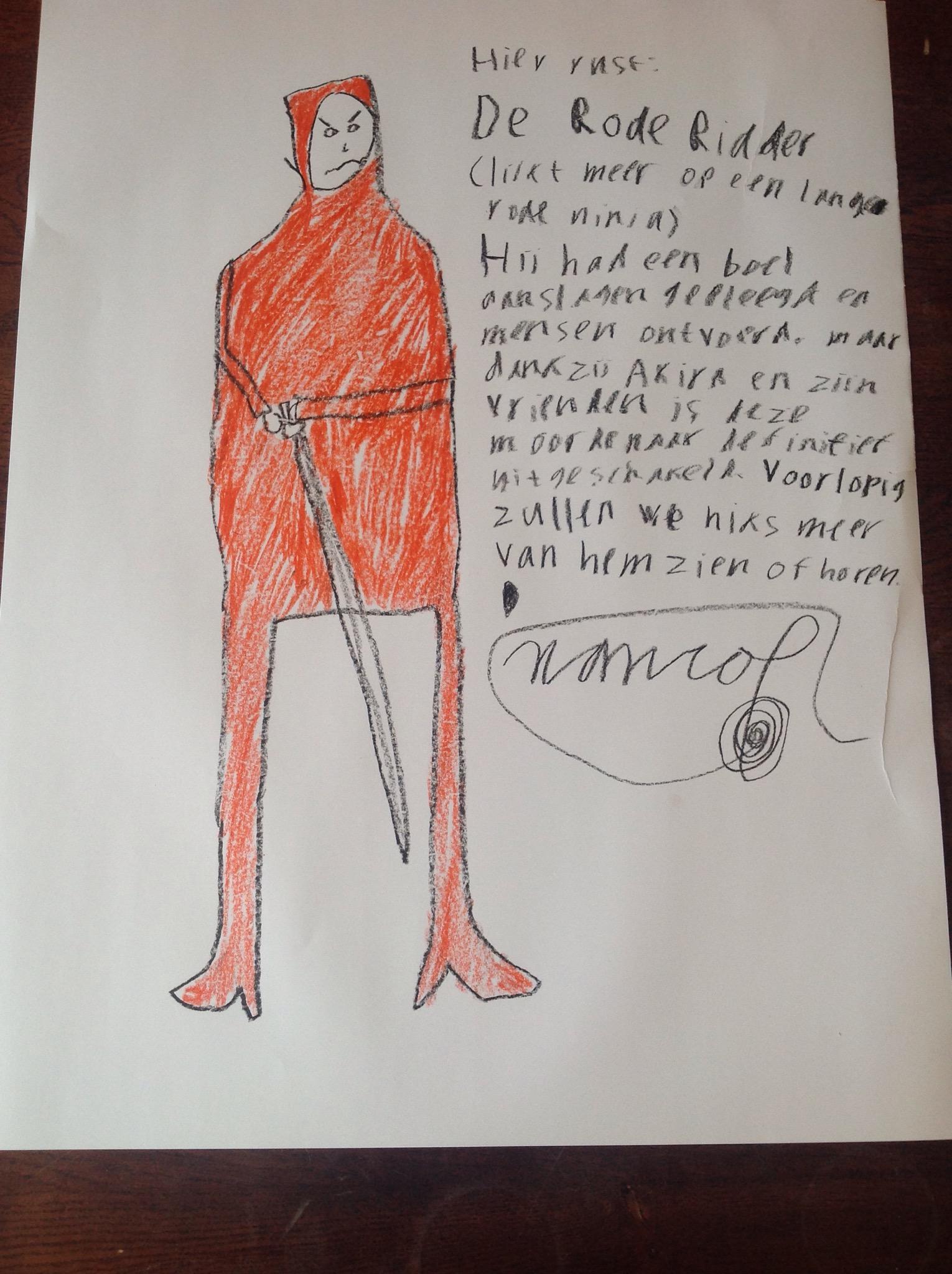 De Rode Ridder (tekening)