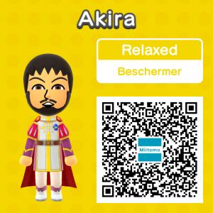 Scan deze QR-code als je Akira wilt hebben in Tomodachi Life of andere games zoals Super Smash Bros en dergelijke.